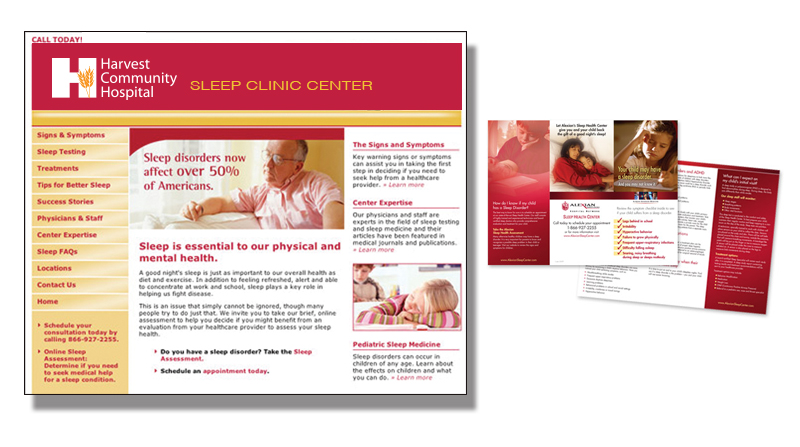 Sleep Clinic Website and Branding