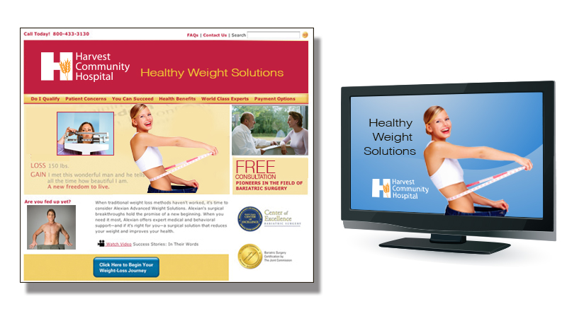 Surgical Bariatric and Medical Weightloss Website, Video Training and Television Commercials